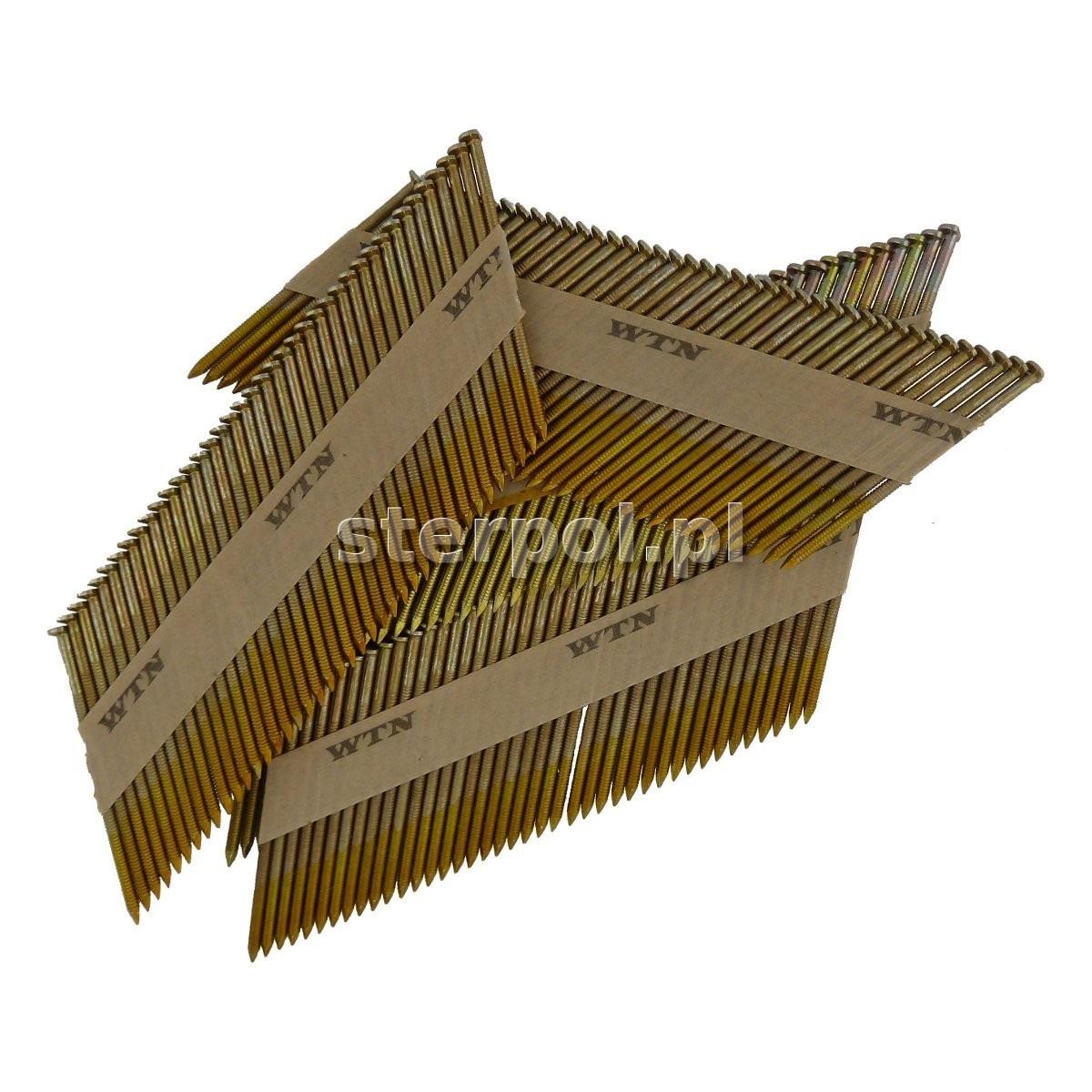 Gwoździe łączone papierem (kąt 34°, główka D)